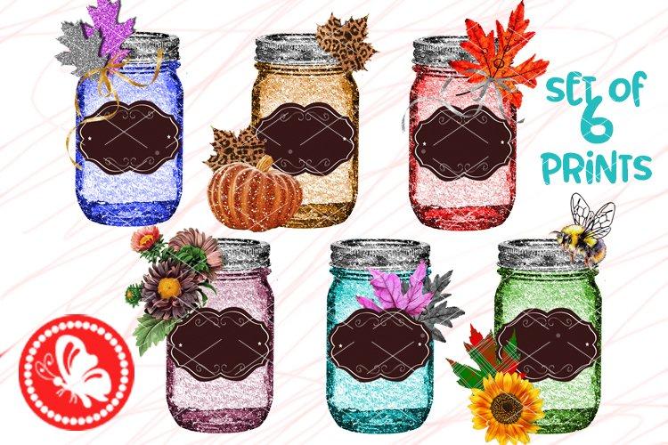 Bundle FALL Mason Jar crafts Home decor Sublimation designs example image 1