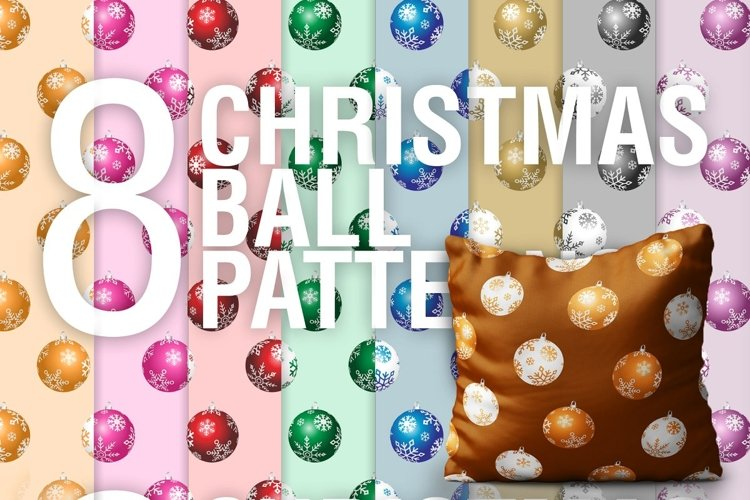 Christmas Ball PSD Patterns PNG PSD