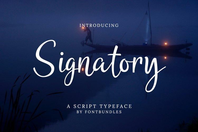 Web Font Signatory example image 1