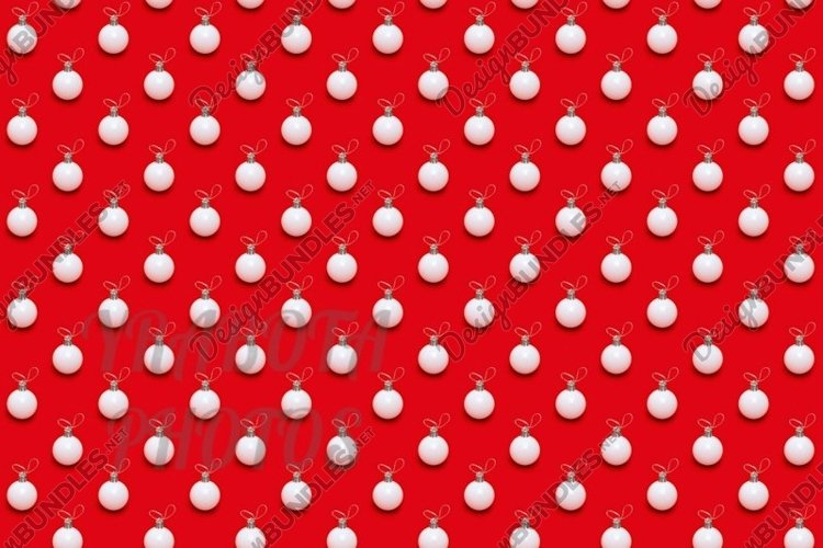 Christmas pattern with white balls on red example image 1