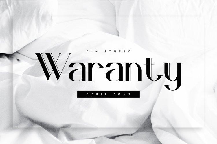 Waranty-Elegant Serif Font example image 1