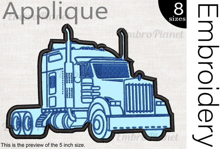 Applique Truck - Embroidery Files - 1495e example image 1