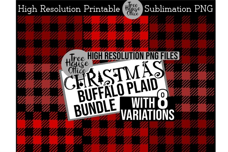 Buffalo Plaid Red Black Christmas Pattern Sublimation PNG