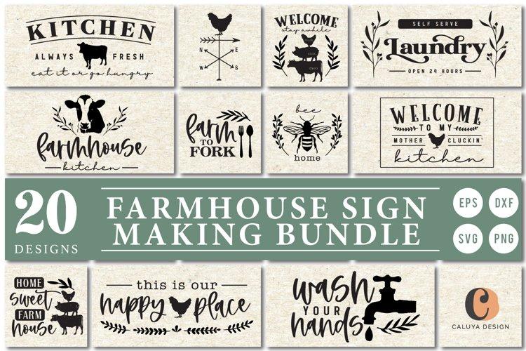 ULTIMATE Farmhouse Sign Making SVG Bundle example image 1