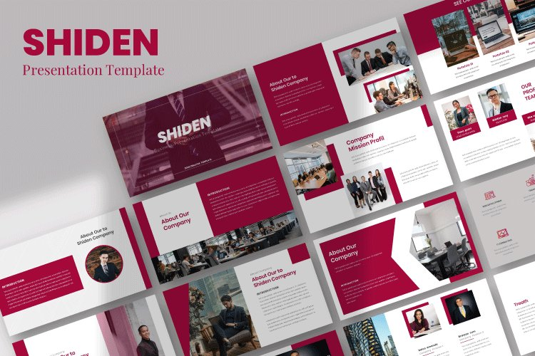 Shiden - Business Google Slides Template example image 1