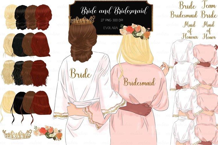 Bridesmaid Clipart Bride Robe Clipart Bride Clipart Wedding example image 1