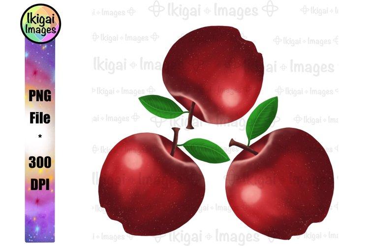 Fall Apples PNG, Fruit Clipart, Teacher Kitchen Towel Design