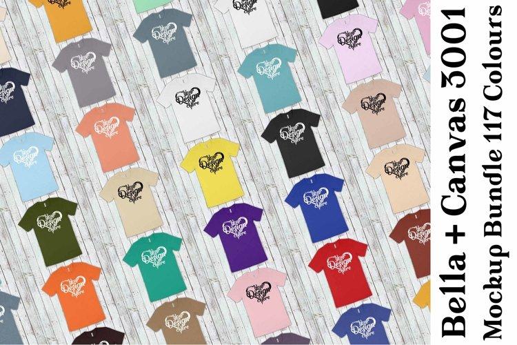 Bella Canvas 3001 Mockup Bundle T-Shirt Mock Ups 055 example image 1