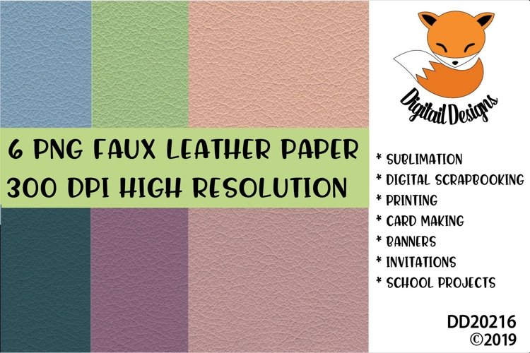 Faux Leather Effect Digital Paper Pack