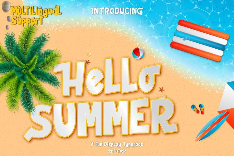 Hello Summer - Fun Display Font example image 1