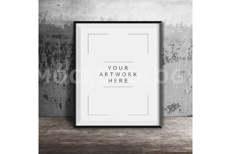 8x10 16x20 24x30 Vertical DIGITAL Black Frame Mockup, Styled Photography Poster Mockup, Grey Background, Framed Art, INSTANT DOWNLOAD