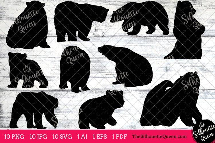 Polar Bear Silhouette Clipart Clip Art(AI, EPS, SVGs, JPGs, PNGs, PDF), Polar Bear Clip Art Clipart Vectors - Commercial   Personal Use