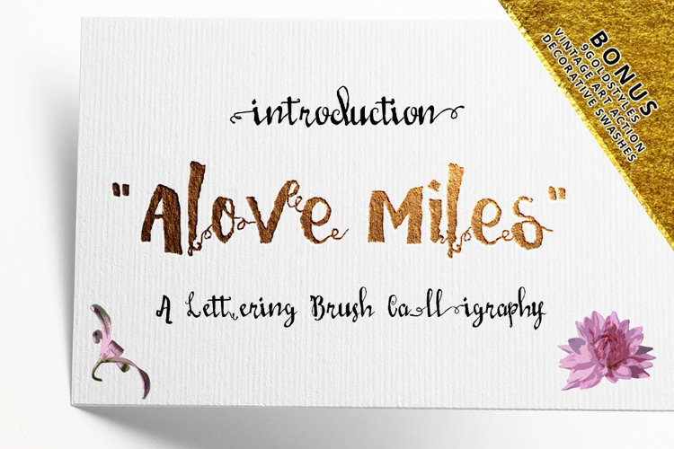 Love Mile Typeface example image 1
