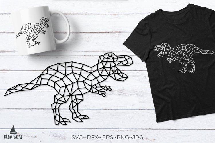 T rex svg Dinosaur svg Trex Geometric animals Dinosaur png example image 1