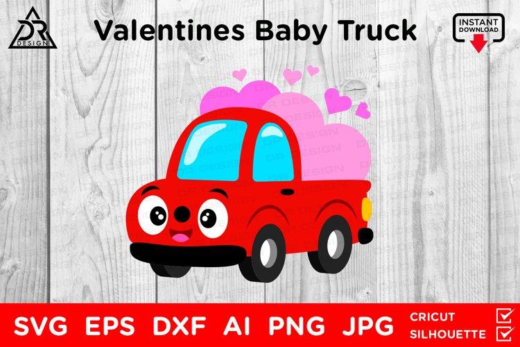 Valentines Baby Truck SVG