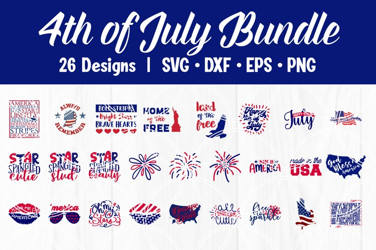 4th of July SVG Bundle Independence Day Patriotic Cut Files
