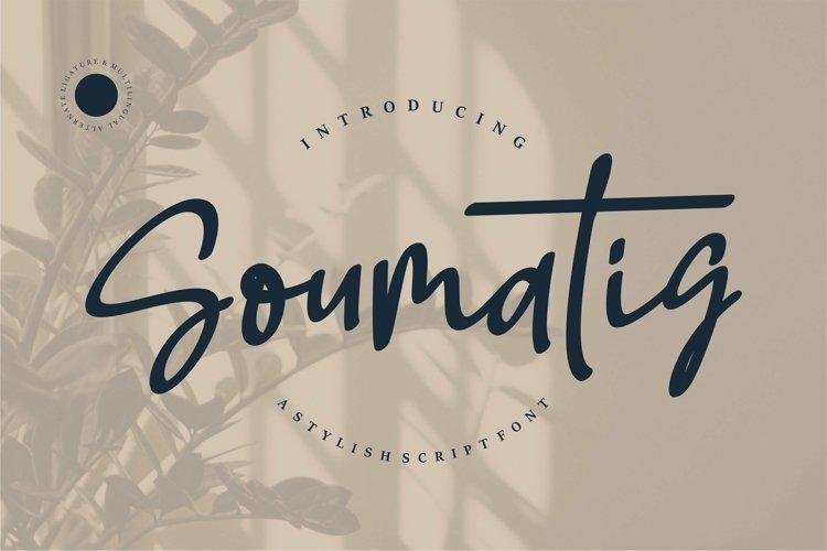 Web Font Soumatis - A Stylish Script Font example image 1