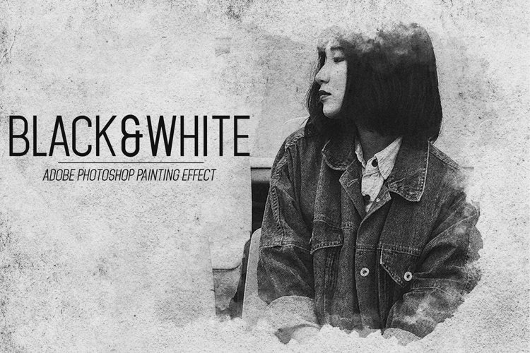Black And White - Photoshop Painting Effect example image 1