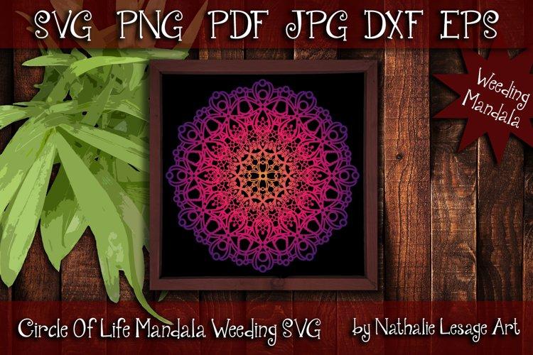 Circle Of Life SVG Zetangle Style Weeding And Sublimation