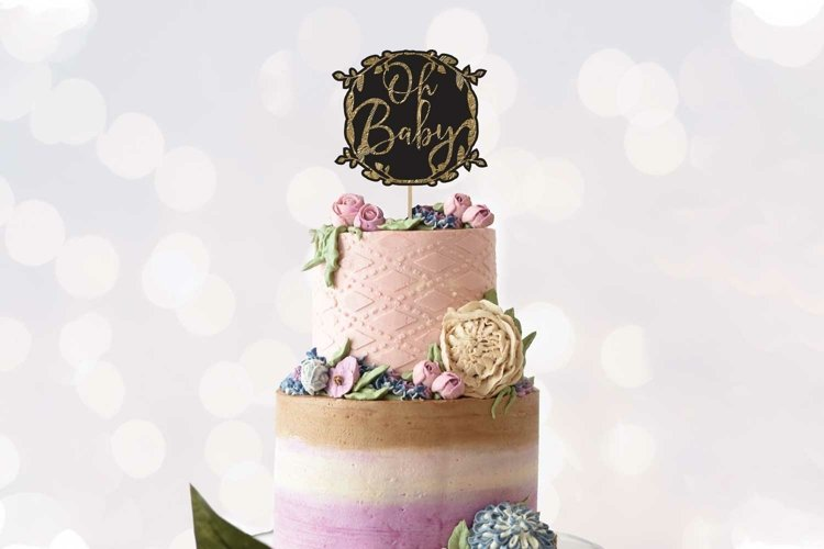 Oh Baby Cake topper design example image 1