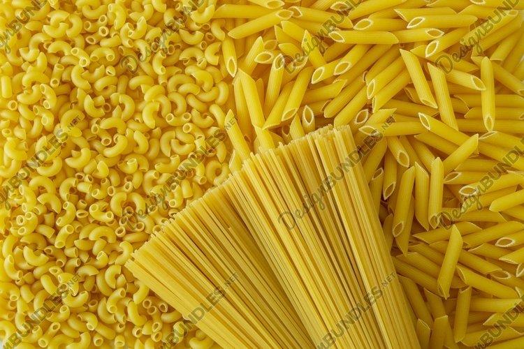 Close-up background dry Italian pasta example image 1
