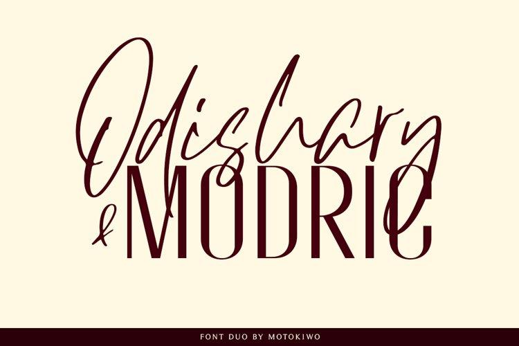 Odishary & Modric Font Duo example image 1