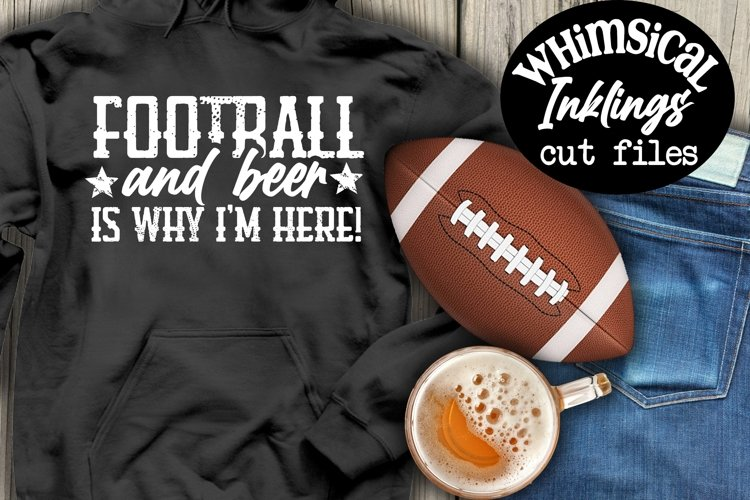 Football And Beer SVG