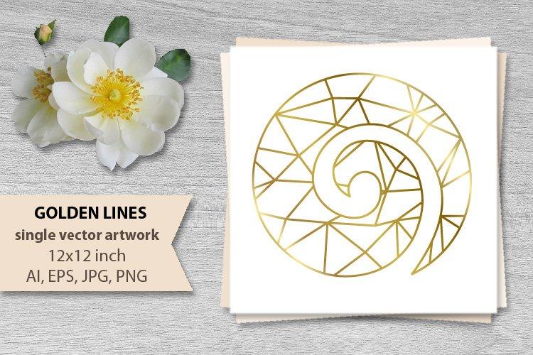 GOLDEN LINES, KORU- single vector artwork example image 1