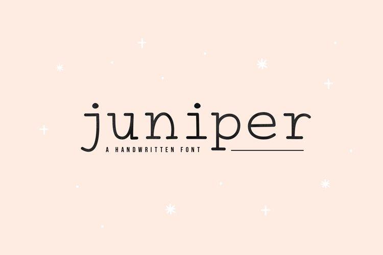 Juniper - A Fun Typewriter Font example image 1