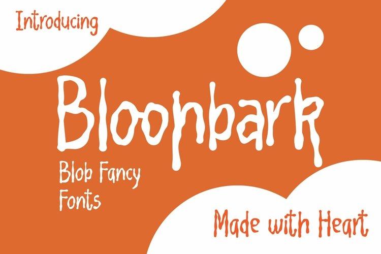 Web Font Bloonbark - Blob Fancy Font example image 1