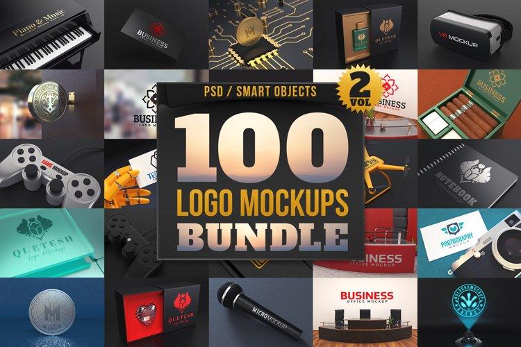 100 Logo Mockups Bundle Vol.2 example image 1