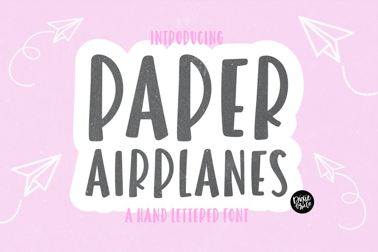 PAPER AIRPLANES Bold Sans Font example image 1