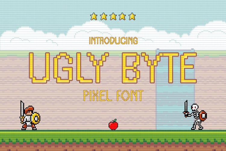 Ugly Byte - Pixel Font example image 1