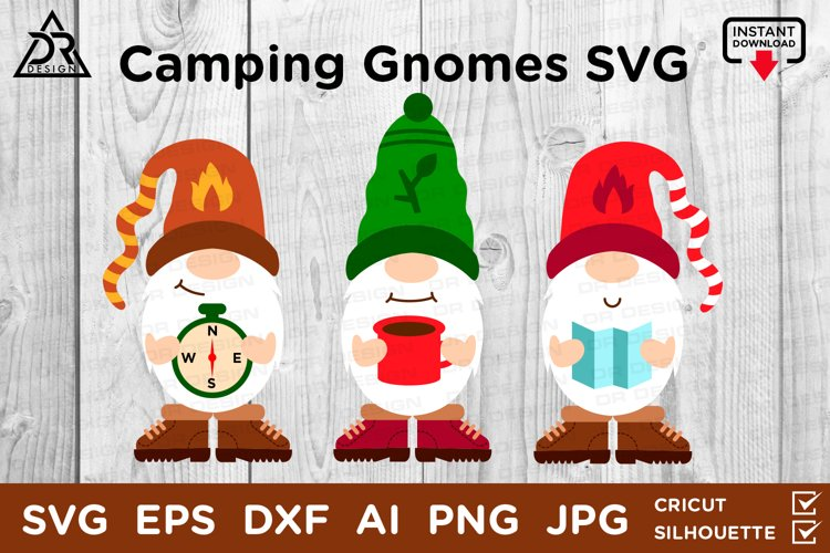 Camping Gnomes SVG