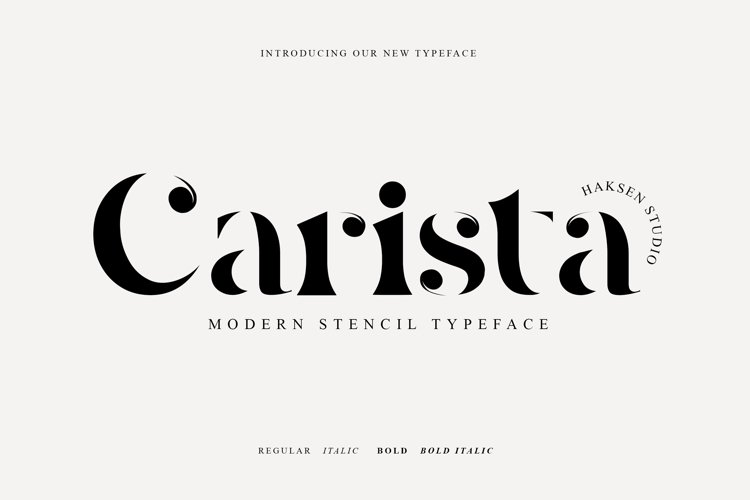 Carista The Modern Serif Family example image 1