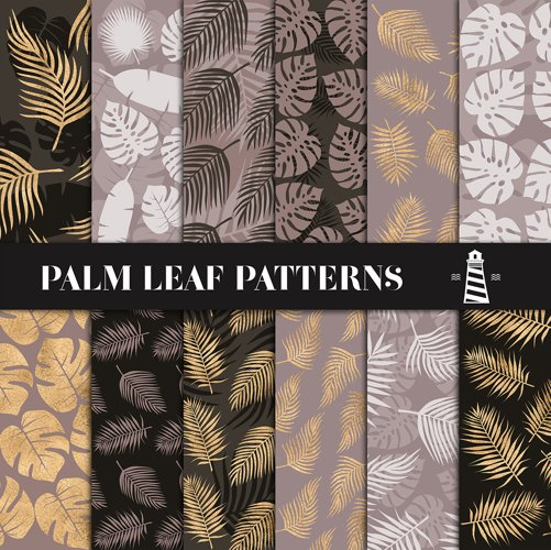 Brown & Gold Palm Leaf Patterns example image 1