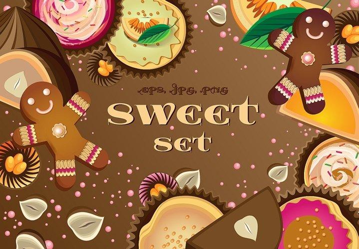 A set of sweet elements