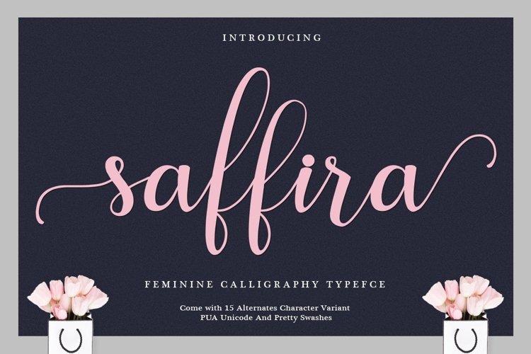 Web Font Saffira Script example image 1