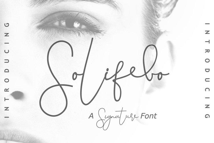 Solifebo Font example image 1