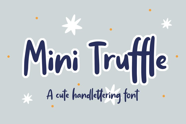 Mini Truffle - Cute Handlettering Font example image 1