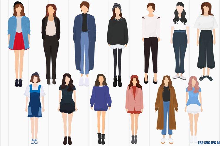 Fashionable girls example image 1