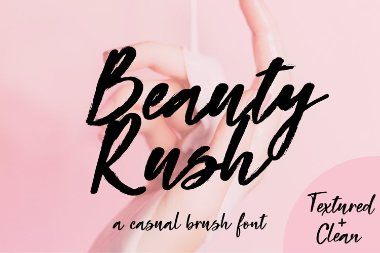 Beauty Rush Font Set