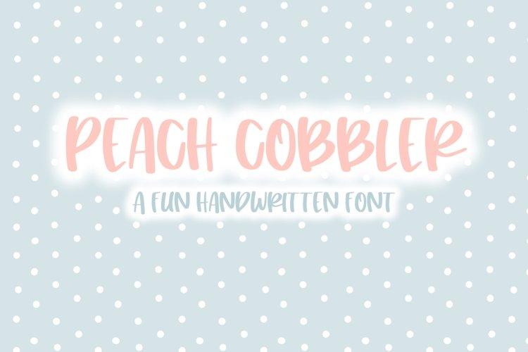 Peach Cobbler | Fun Handwritten Font | Bouncy Font example image 1