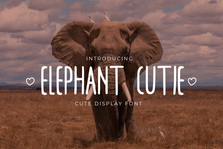 Elephant Cutie - Handwritten Display Font example image 1