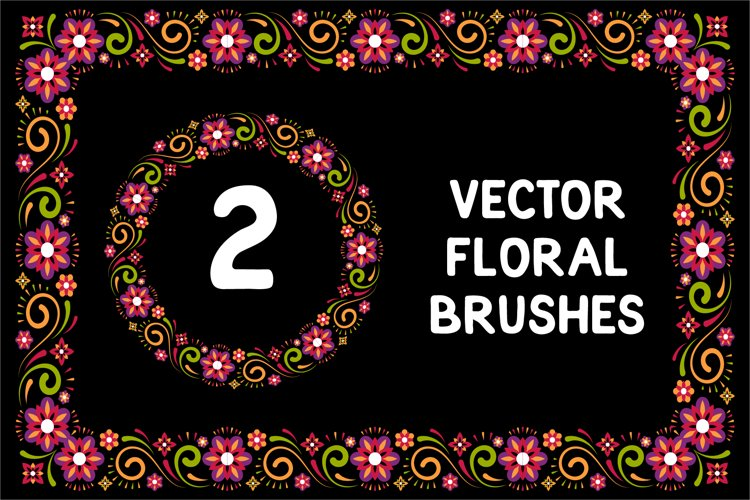 Flower Vector Brushes And Pattern