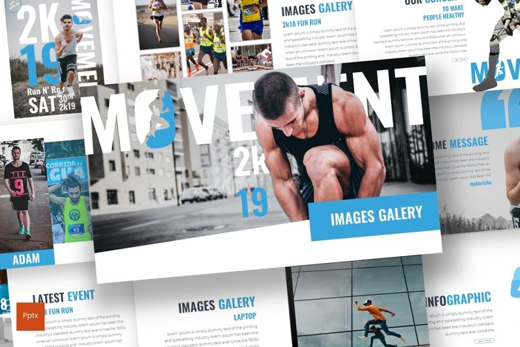 Mvmnt - Powerpoint Template example image 1