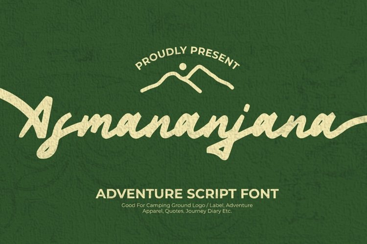 Web Font Asmananjana Font example image 1