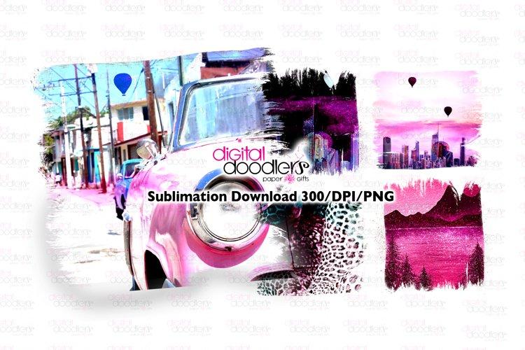 Pink City Lover Sublimation Splash Background Bundle