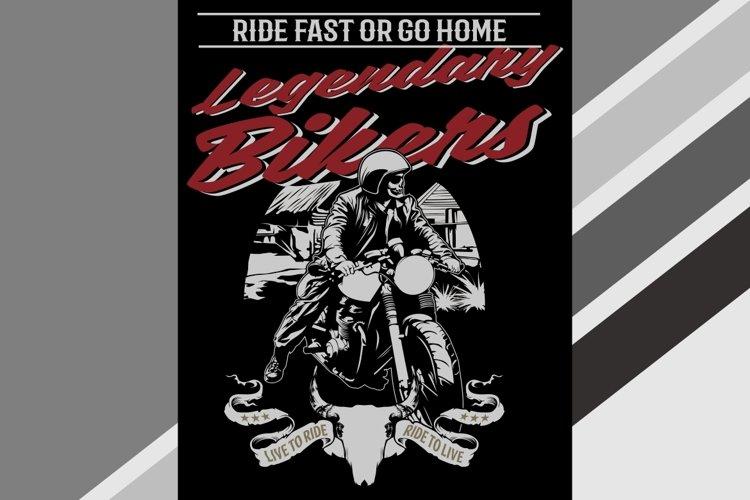 mock up clothing company, t-shirt template, legendary bikers