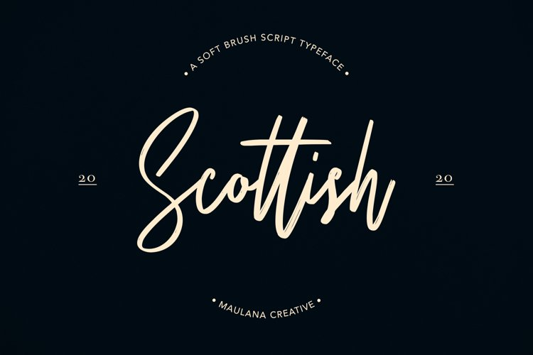 Scottish Brush Script Typeface example image 1